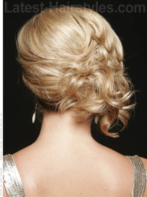 hairstyles blonde mesh chignon the sweet side blonde updo back view up do pinterest