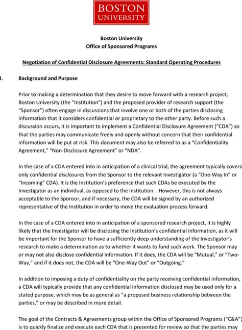 confidential disclosure agreement template confidential disclosure agreement templates