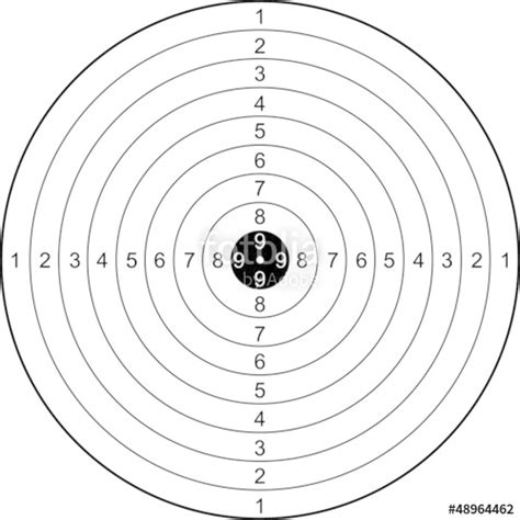 template for 5 1 8 x 3 3 4 card quot 130128 ziel zielscheibe dart schwarz wei 223 klar