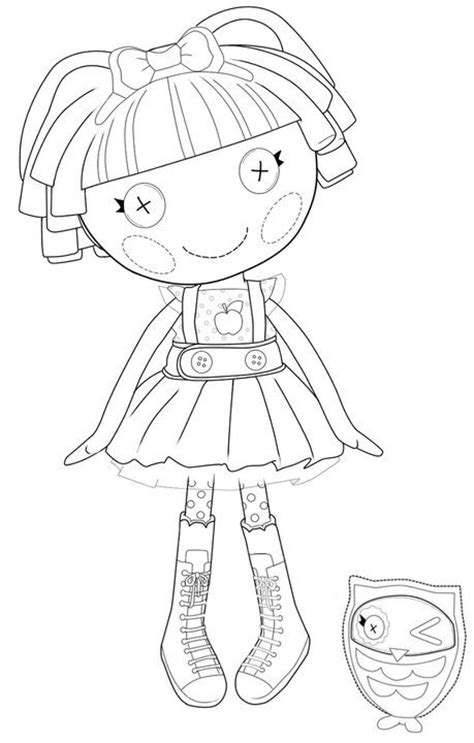 Kids N Fun Com Coloring Page Lalaloopsy Lalaa Lopsy Lalaloopsy Colouring Pages