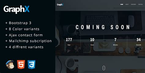 themeforest coming soon graphx responsive coming soon page template free