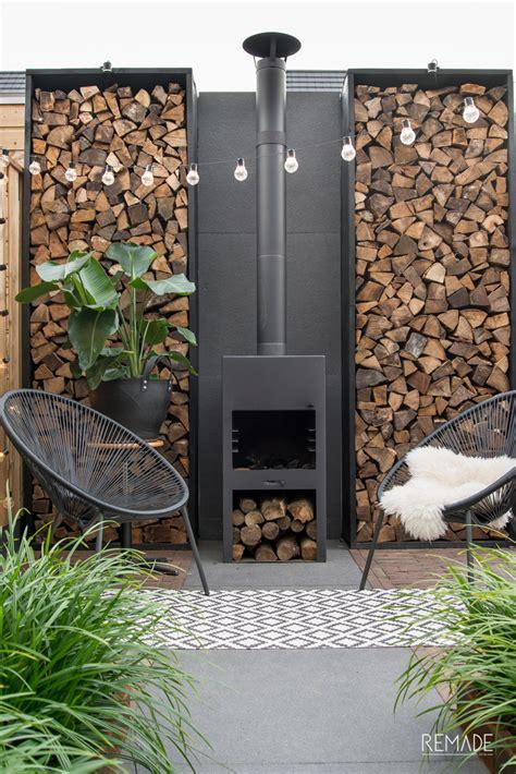 31152 Small Top Outer genieten de tuin in de herfst met een burni buitenhaard