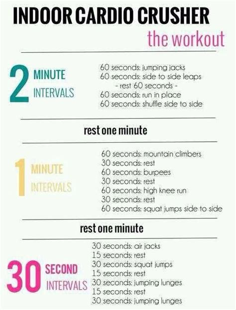 indoor cardio workout workout