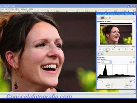 tutorial gimp español tutorial gimp espa 241 ol 20 retocar retratos con gimp youtube
