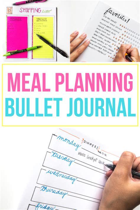 dinner journal easy meal planning bullet journal ideas spark