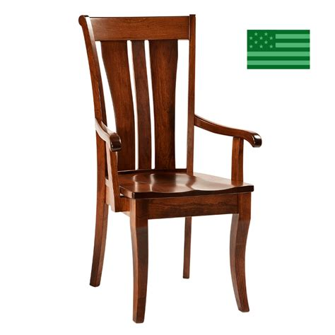 Dining Chairs Made In Usa Made In America Dining Chairs Amish Solid Wood Heirloom Furniture Made In Usa Fiona Arm