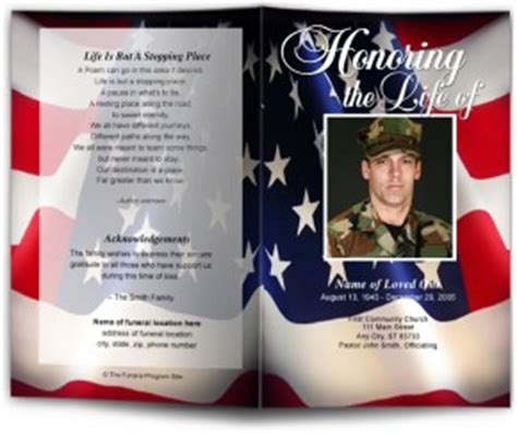 Funeral Bulletins Templates Memorial Service Bulletins Cover Background Free Patriotic Funeral Program Template