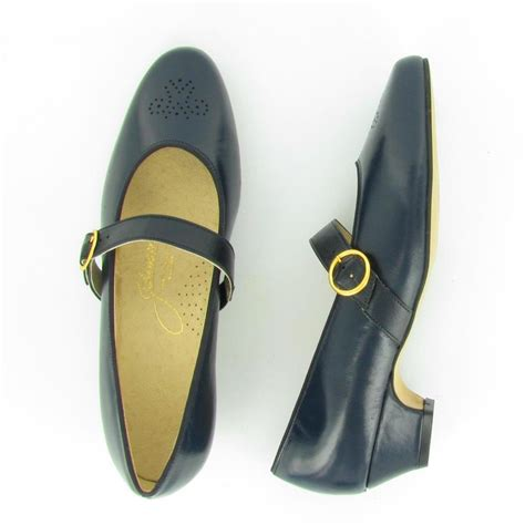 treat navy leather johansen us made shoes