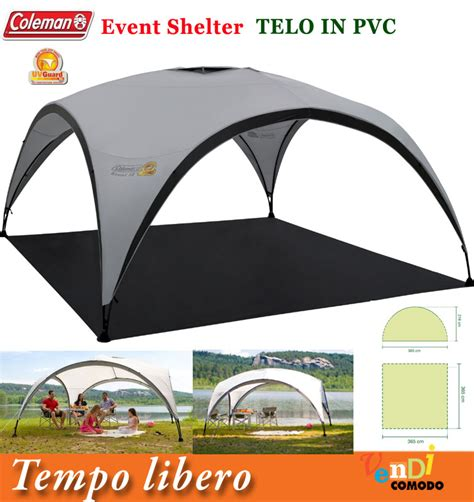 colemans gazebo shelter sunwall coleman tappeto pavimento telo tenda stand