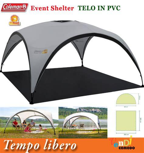 gazebo montaggio rapido shelter sunwall coleman tappeto pavimento telo tenda stand