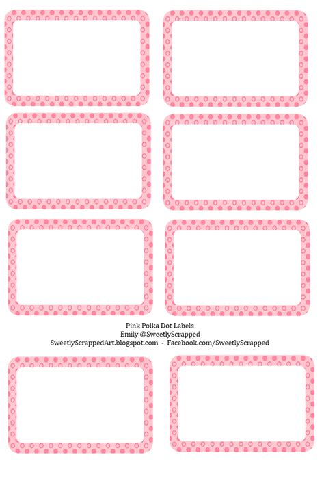 7 best images of polka dot label templates printable