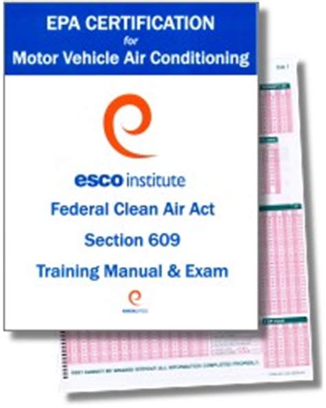 epa section 608 practice test motor vehicle air conditioning epa section 609 training