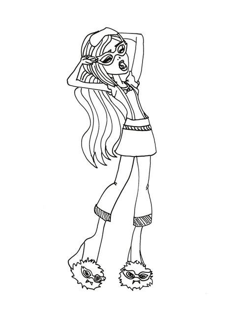 monster high coloring pages gil lagoona blue feel sleepy coloring page monster high