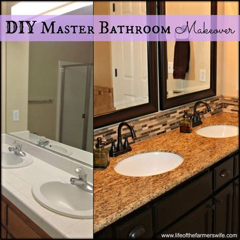 complete diy remodel on a master bathroom including
