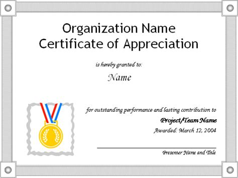 free certificate of appreciation template for word professional business certificate template exles thogati
