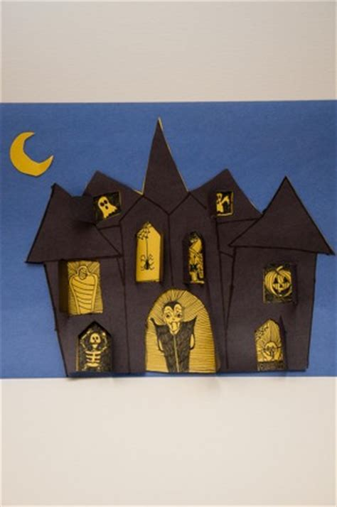 How To Make A Paper Haunted House - make a haunted house activity education