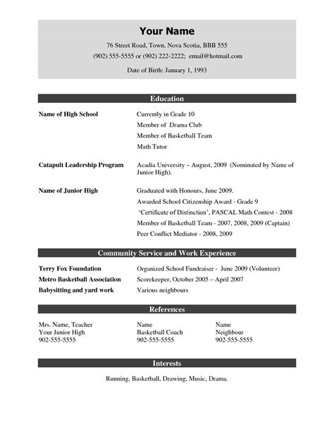 demo resume free excel templates