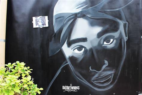 tupac graffiti  eyez   premiere  painting