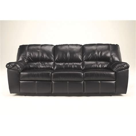 signature leather reclining sofa signature design by furniture fort logan leather