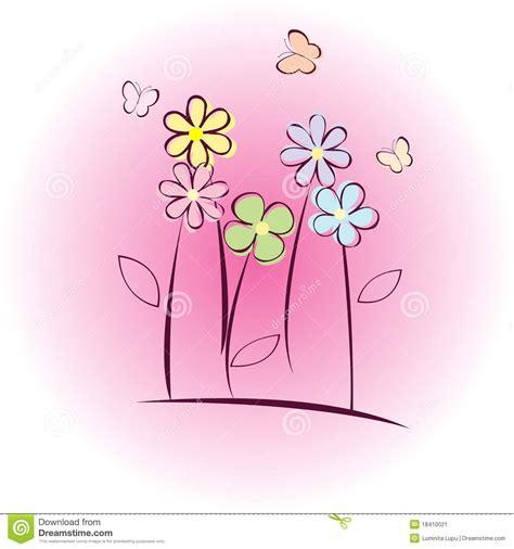 auguri con i fiori cartolina d auguri con i fiori immagine stock immagine