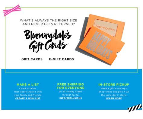 Bloomingdales Gift Card - bloomingdale s gift cards e gift cards bloomingdale s
