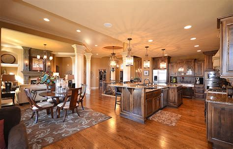 open kitchen living dining room floor plans 6 gorgeous open floor plan homes room bath