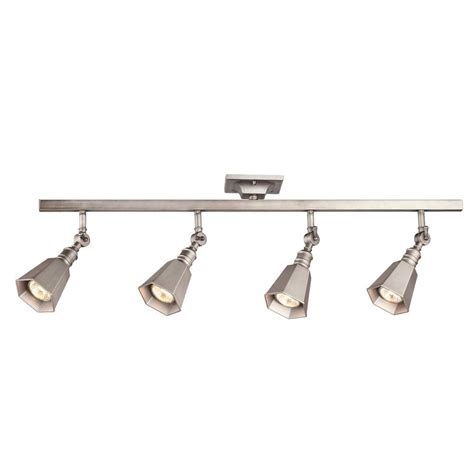 4 Light Track Lighting by Hton Bay Chestnut 4 Light Antique Pewter Track Lighting