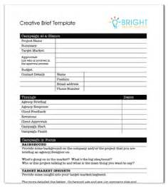 copy brief template creative agency brief template