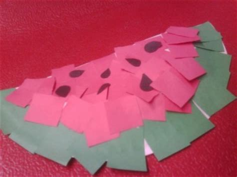 Summer Construction Paper Crafts - wacky paper watermelons family crafts