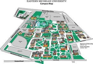 Eastern Michigan Campus Map by Eastern Michigan University Map Eastern Michigan
