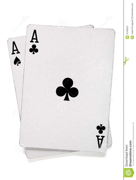 of cards pair of aces with cards stock photos image 10768333