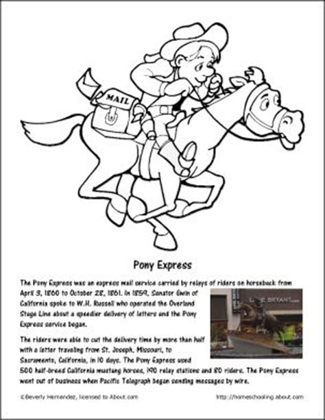 pony express coloring pages amazing april a month long calendar of activities