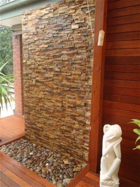 garden wall features stacked stones water features and stacked walls on