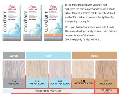 colour chart of the hair colour brand wella koleston wella toners chart hair pinterest wella toner chart