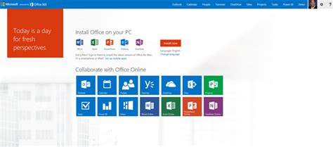Msn 365 Login Microsoft Office 365 Gets A New Home Page