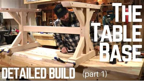 how to build a trestle table how to build a farmhouse trestle table base detailed