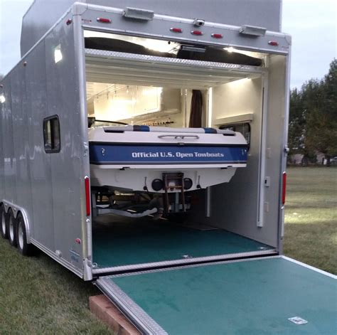 how big a boat can you trailer anyone haul a boat inside their toy hauler page 2