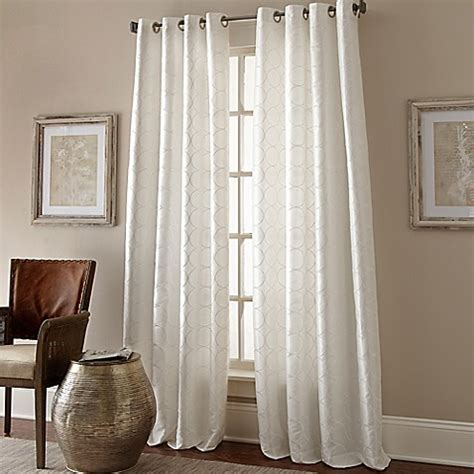 120 inch white curtains buy manhattan 120 inch grommet top window curtain panel in