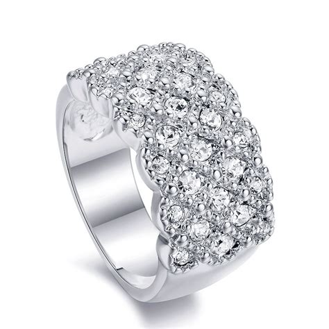 royal pave gold platinum plated engagement ring
