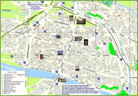 mappa pavia pavia tourist map