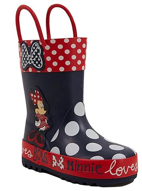 minnie mouse boots disney minnie mouse wellington boots george at asda