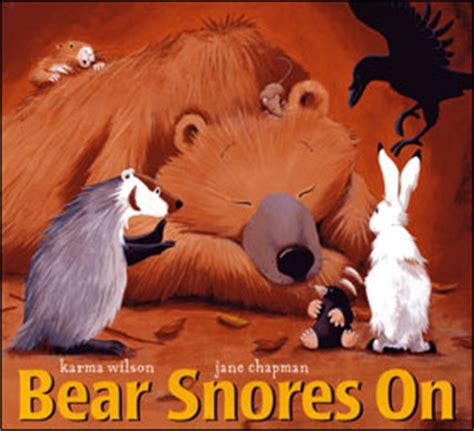 bear snores on 0743462092 karma wilson author of bear snores on and other children s books