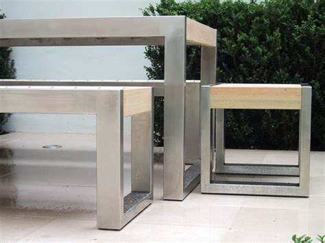 Stainless Steel And Wood Outdoor Furniture by Skop Outdoor Chair By Factory Furniture