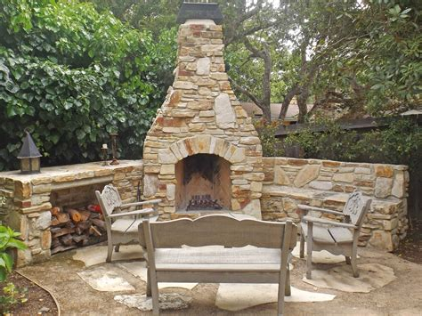 Warm Outdoor Fireplace Plans in Patio: Rustic vs Modern