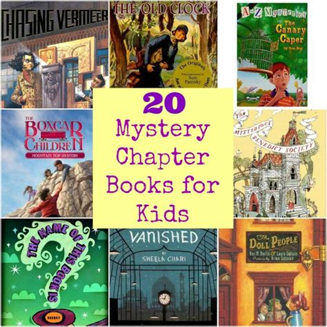 mystery picture book 20 mystery chapter books for