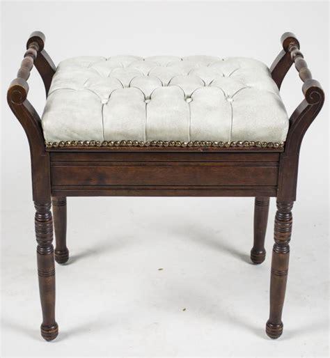 victorian style bench victorian style mahogany piano bench