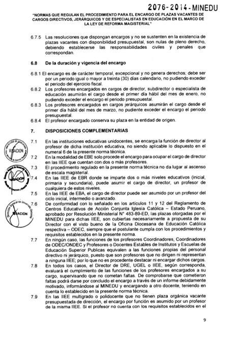 norma tcnica normas que regulan el proceso rsg n 176 2076 2014 minedu aprobar la norma t 233 cnica