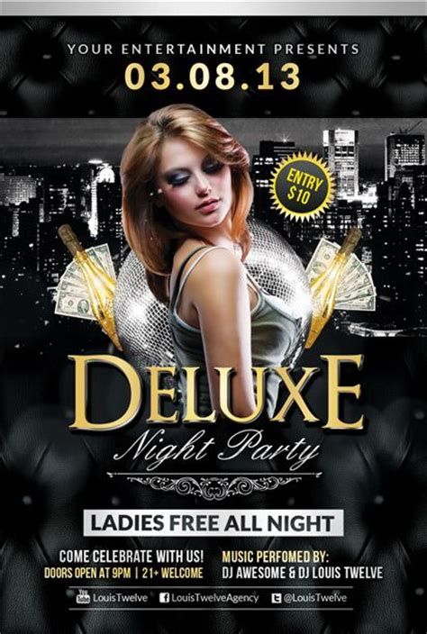 free deluxe night club psd flyer template download free