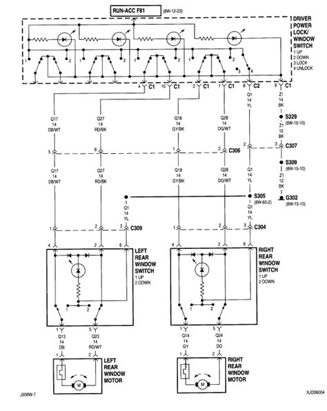 1996 jeep sport power door lock diagram wiring