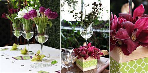centro tavolo con fiori centrotavola con fiori casa fai da te